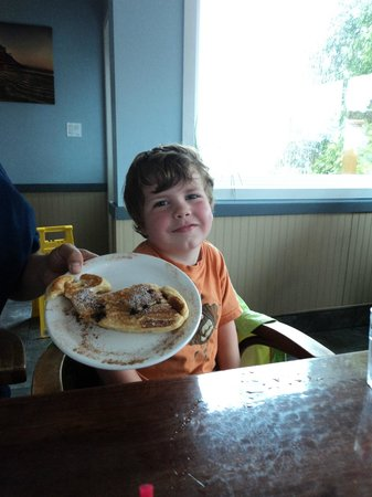 The Blue Room: Our son's whale pancake was appropriate as we were off to Jamie's for whale watching!
