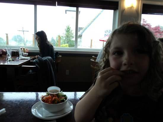 The Blue Room: I loved that they had salad options for kids. Our daughter vows that prawns are now her favourit