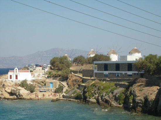 Poseidon Hotel - Suites: View of the windmills from our room