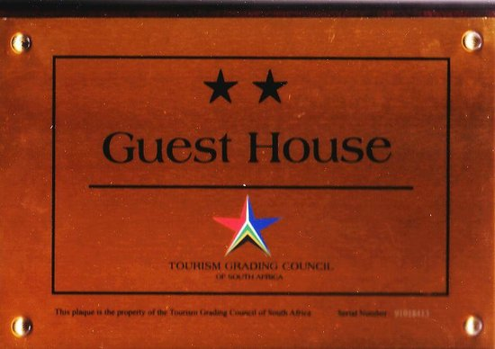 Dossa Guest House: Tourism Council of South Africa - 2 stars grading