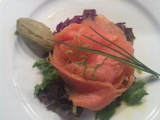 The Peacock Country Inn Restaurant: smoked salmon and avocado mousse