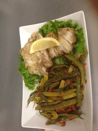 Brewery Bay Food Company: pan seared Atlantic cod with sautéed beans
