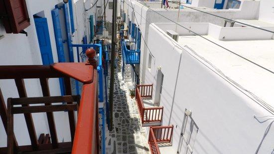 Marsoula's Studios : Vista dal balcone