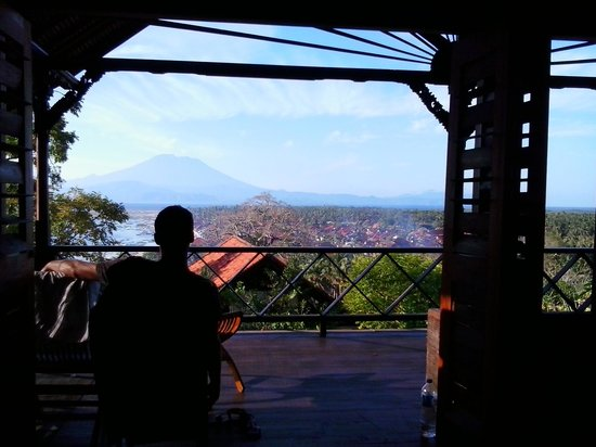 Villa Bagus: View from rooms upstairs.