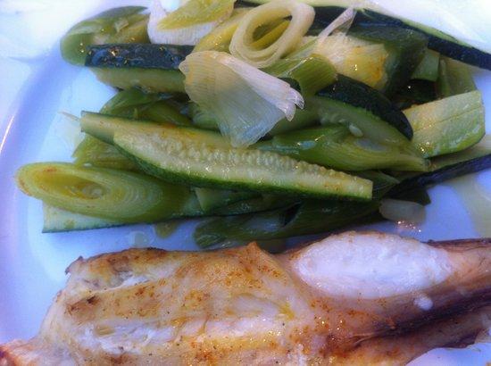 La petite peche : Lotte/légumes croquants