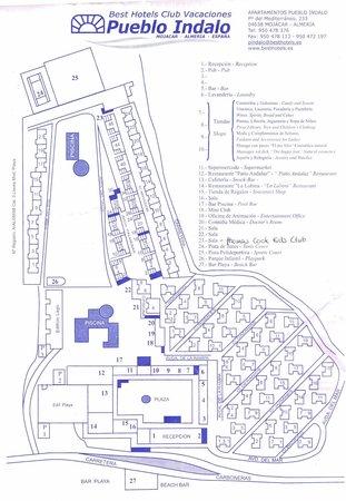 Mojacar Spain Map.Map Of Complex Picture Of Apartamentos Best Pueblo Indalo Mojacar