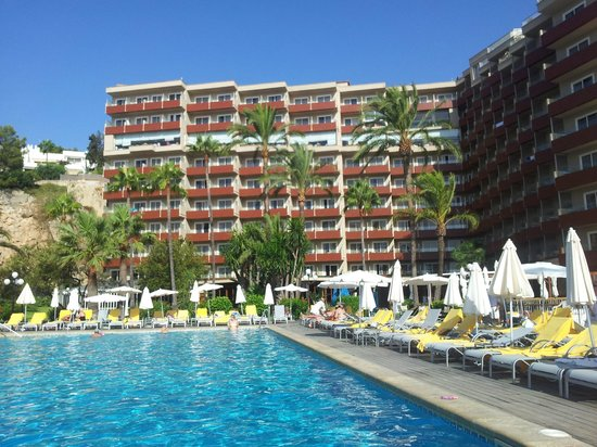 Hotel Riu Palace Bonanza Playa: Вид от бассейна