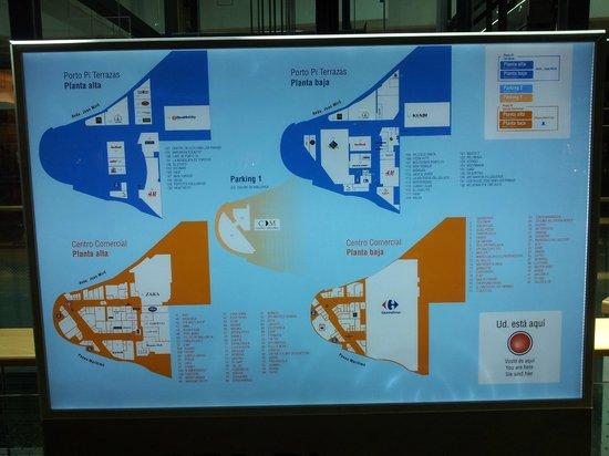Hotel Riu Palace Bonanza Playa: План торгового центра Porto Pi