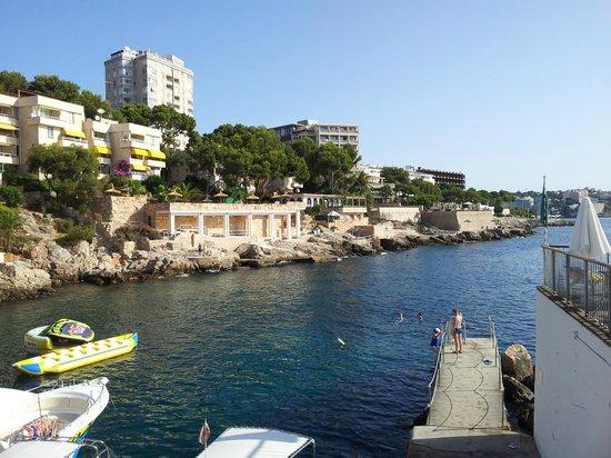 Hotel Riu Palace Bonanza Playa: Вид на побережье от бассейна -1
