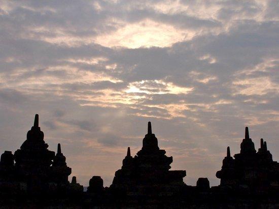 Candi Borobudur: tramonto