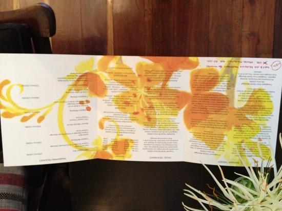 Frangipani Spa: frangipani leaflet