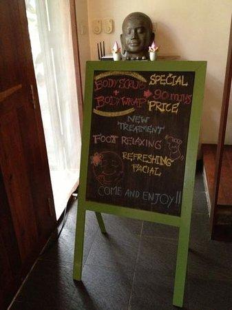 Frangipani Spa: specials