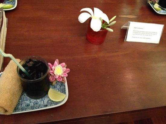 Frangipani Spa: welcoming tea
