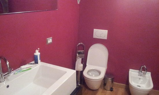 Relais Palazzo Paleologi: Nice looking bathroom, but where's the hot water?!?