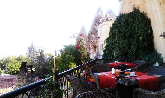 Cappadocia Cave Suites: view from restaurant terrace