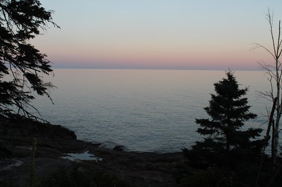 Surfside on Lake Superior: Morning view from the patio
