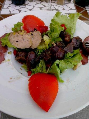 Europhotel Maupas: La salade gasconne au Foie et Gésiers