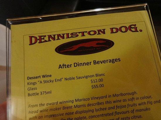 Denniston Dog Restaurant & Bar: Beverages