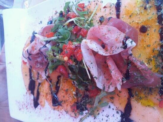 L'Assiette Amoureuse : carpaccio de melon a l'italienne