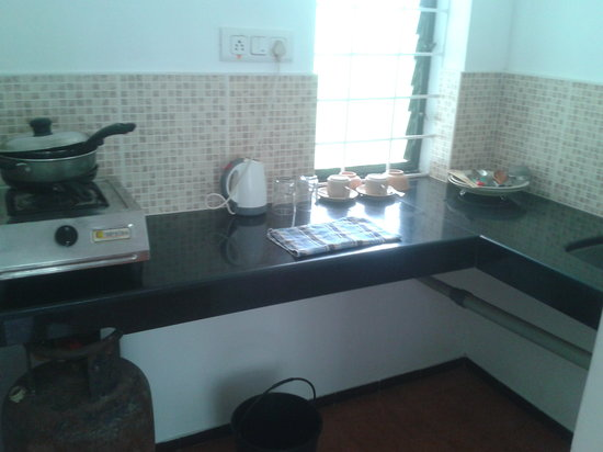 Albuquerque Holiday Villas Goa: Kitchen with all clean and basic utensils