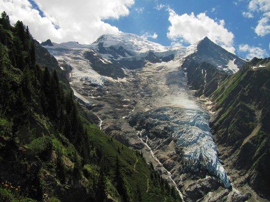 Glacier des Bossons : Glacier de Taconnaz et Dôme du Goûter