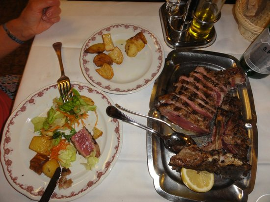 SanGaggio House: Steak at the local Trattoria