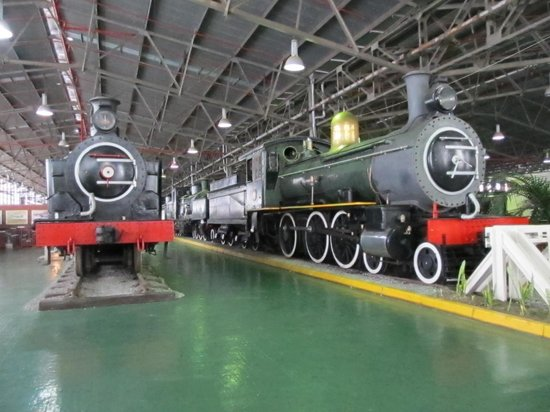 George Museum: Two of the steam locomotives, that have been used in areas where there was no electricity