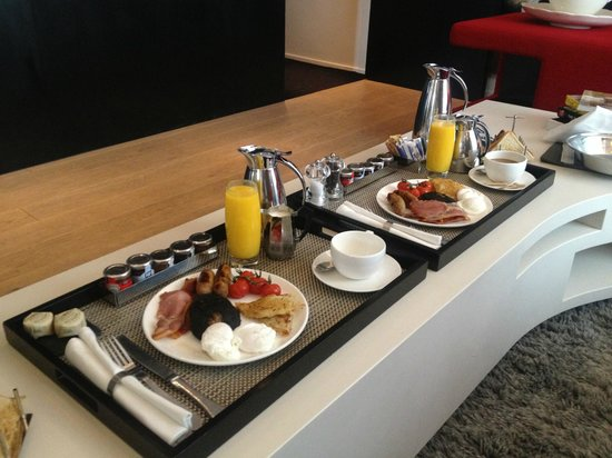 W London Leicester Square: The Best Room service Breakfast in room wow Suite