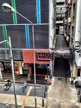 D Varee Diva Bally Silom, Bangkok: Front facade of Bally's Studio Silom from the BTS walkway
