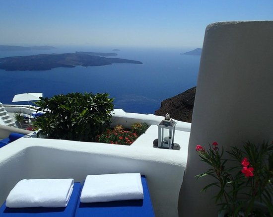 Iconic Santorini, a boutique cave hotel: Stunning views throughout
