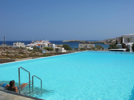 view from pool to harbor