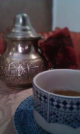 Riad Alaka: Mint tea made by Aziz