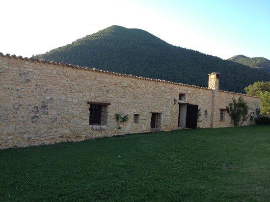 Pianciano: Casa della Roccia vu du jardin de la chambre du haut