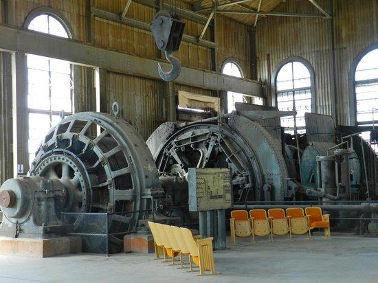 Butte Urban Safari Tours (B.U.S.T.): Massive electric motor inside the winch building
