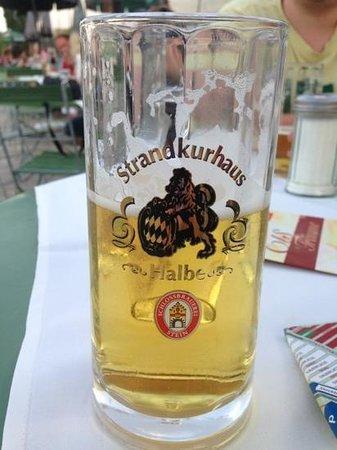 Strandkurhaus: stein - very good beer.