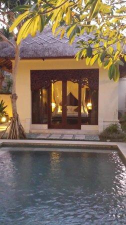 Pat-Mase, Villas at Jimbaran: View of private pool and room