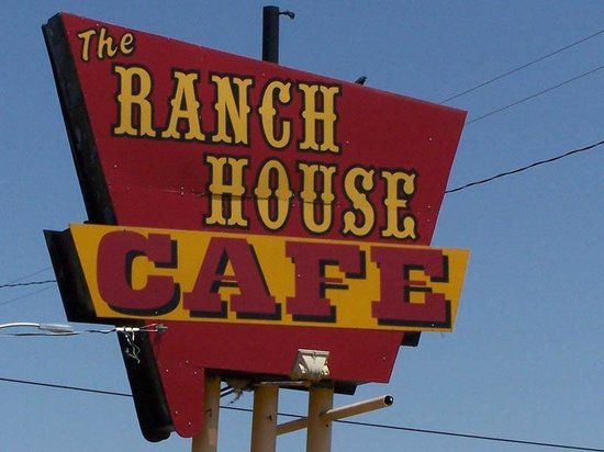 THIS IS THE RANCH HOUSE CAFE SIGN IN CANYON TX!