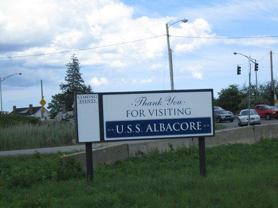USS Albacore Museum: sign