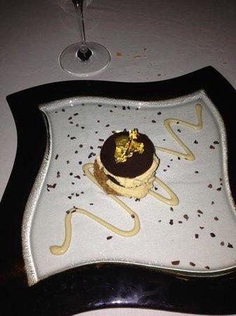Terrazza Tiberio: Mousse al cioccolato.