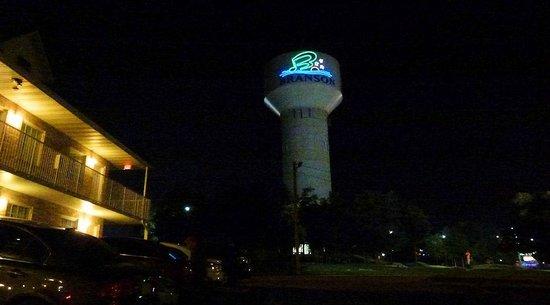 Seven Gables Inn: water tower provides a great landmark