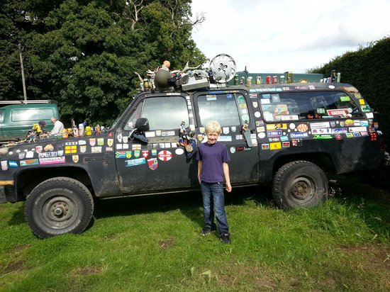 Walcot Hall: Dylan would have loved to pick some of the artefacts off theis old car.