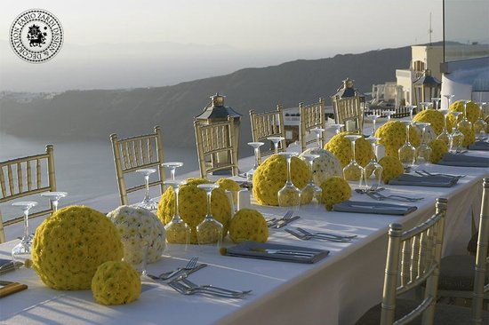 Vamos, Grèce : Luxury wedding reception decoration