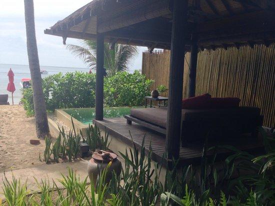 Anantara Rasananda Koh Phangan Villas: Our outdoor bed and pool (room #1)