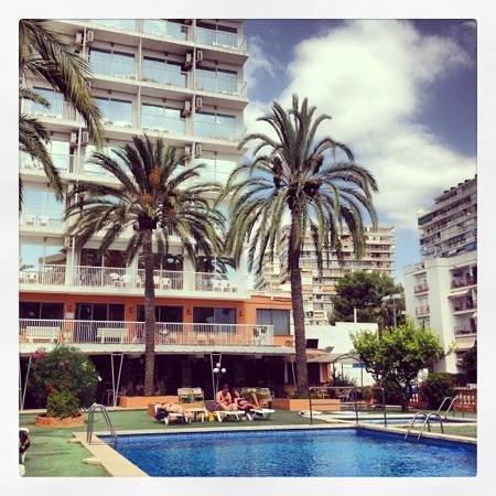 Hotel Mirablau: A view from the pool.