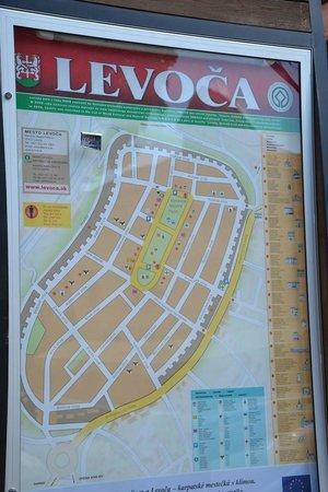 Town Hall: Levoča map
