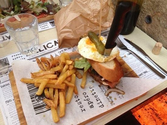 Delicatessen : le deli-burger frites à la graisse de canard