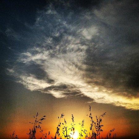 Castello di Saltemnano: un tramonto