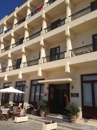 Facade of Porto Veneziano Hotel, Chania
