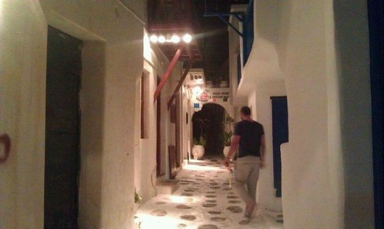 Rania Apartments : Nearby streets of Mykonos...walking distance!