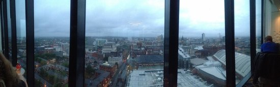 Cloud 23 Bar: Looking down on Deansgate and the G-Mex